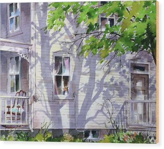 Home Shadows Wood Print by Art Scholz