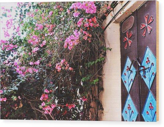 Home Wood Print by Sunaina Serna Ahluwalia