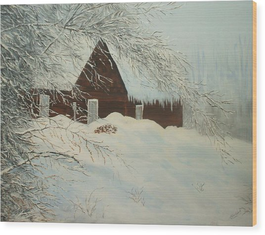 Home Sweet Home Wood Print by Bev  Neely