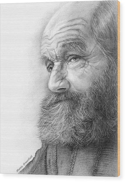 Homeless Wood Print
