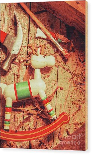 Homemade Christmas Toy Wood Print