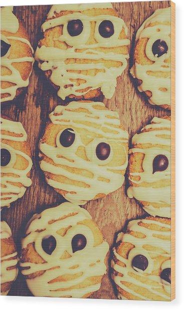 Homemade Mummy Cookies Wood Print