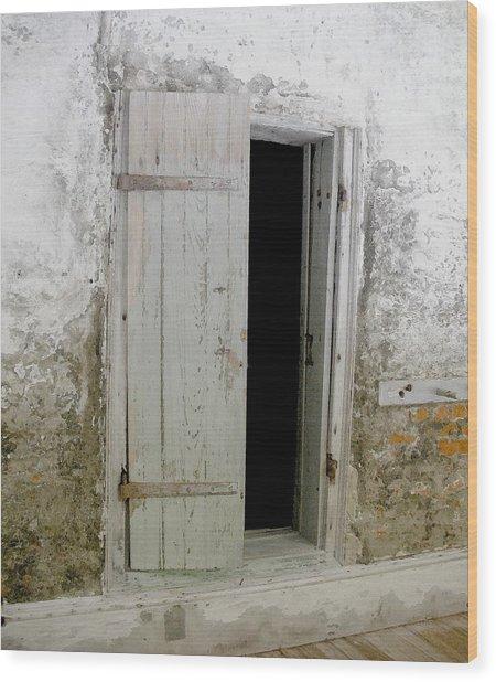 Homeplace Doorway Wood Print