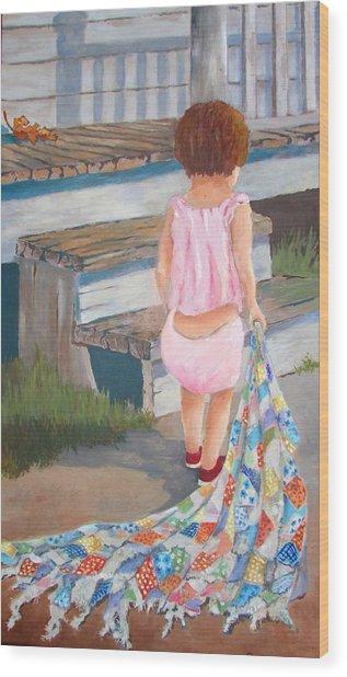 Homespun Annie Wood Print
