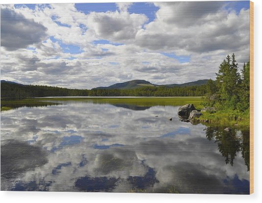 Hon Lake Wood Print