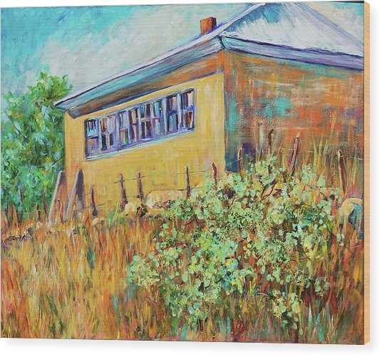 Hondo Valley School House Wood Print