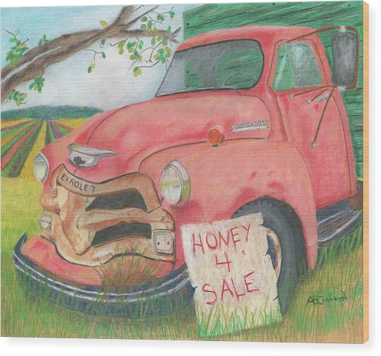 Honey 4 Sale Wood Print