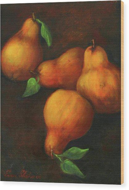 Honey Pears Wood Print