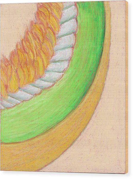 Honeydew Wood Print by Dawn Marie Black