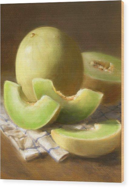 Honeydew Melons Wood Print