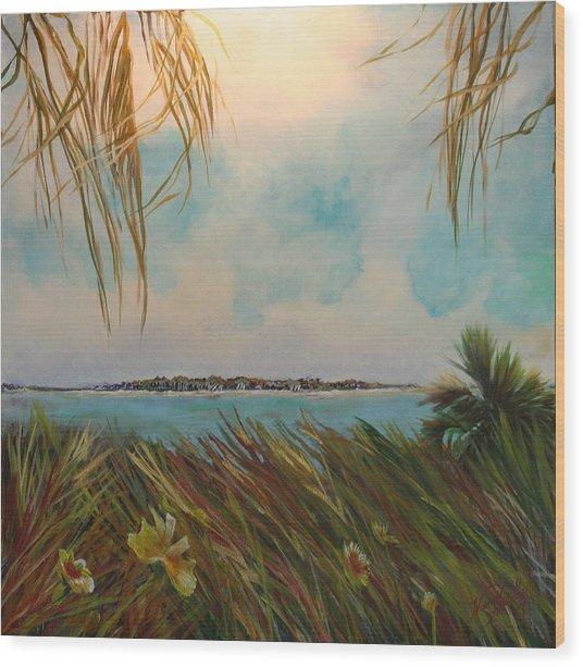 Honeymoon Island Wood Print by Michele Hollister - for Nancy Asbell