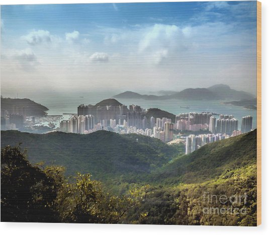 Hong Kong From Victoria Peak Wood Print