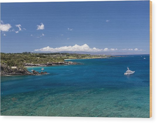 Wood Print featuring the photograph Honolua Bay by Jim Thompson