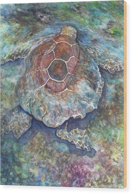 Honu Ill Wood Print