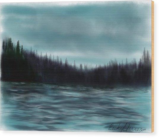 Hood Canal Puget Sound Wood Print