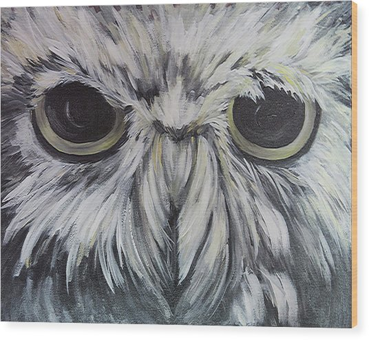 Hoot Wood Print