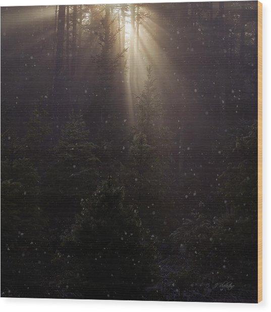 Hope And Faith - Winter Art Wood Print