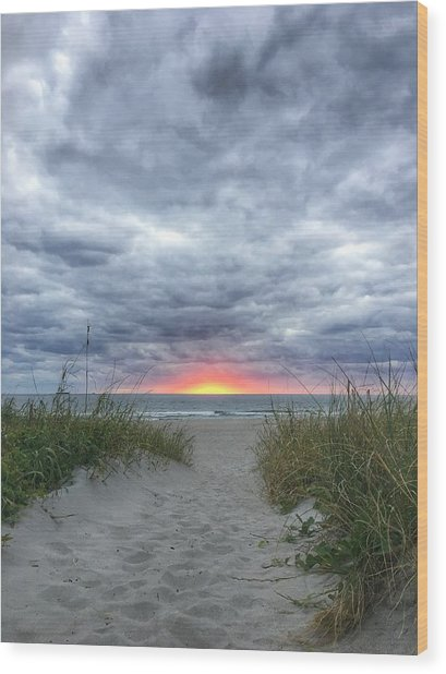 Hope On The Horizon Delray Beach Florida  Wood Print