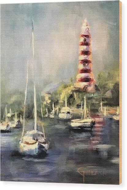 Hope Town Harbor Wood Print