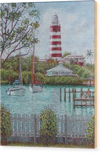Hope Town Lighthouse Wood Print