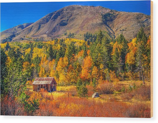 Hope Valley California Rustic Barn Wood Print
