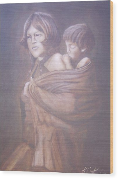 Hopi Mother Wood Print by KC Knight