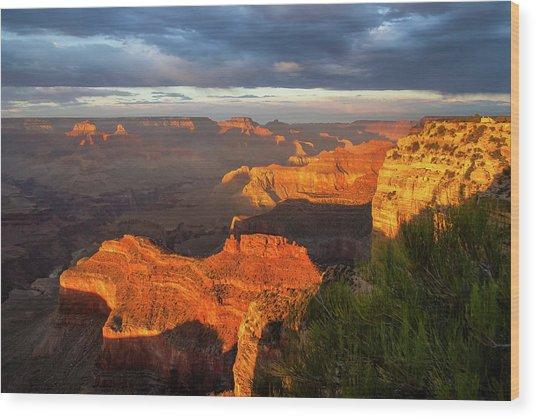 Hopi Point Sunset 1 Wood Print
