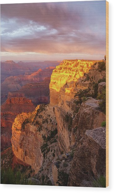 Hopi Point Sunset 2 Wood Print