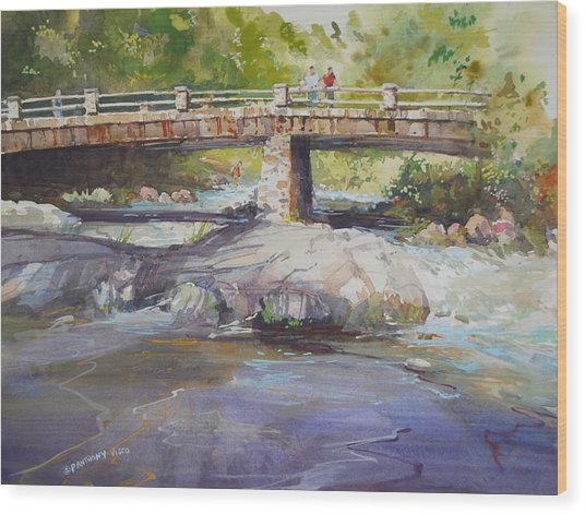 Hopper Bridge Creek Wood Print