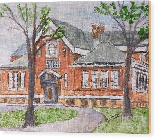 Horace Mann School Amesbury Ma Wood Print