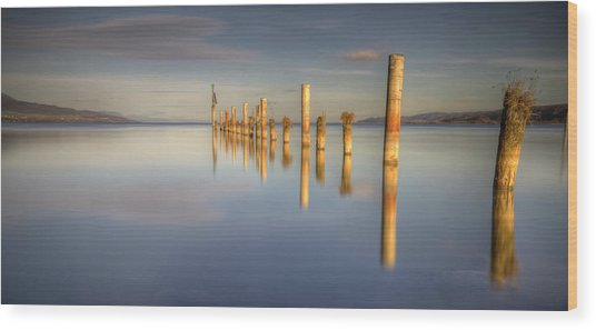 Horizon Wood Print by Philippe Saire - Photography