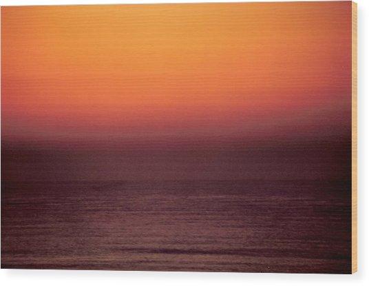 Horizontal Number 14 Wood Print by Sandra Gottlieb