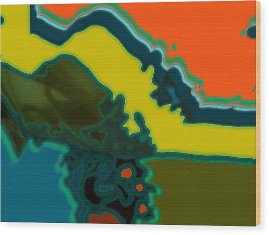 Horizontal Shape Ba Wood Print by Therese AbouNader