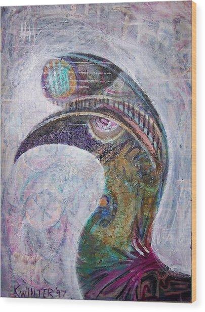 Hornbill Wood Print by Dave Kwinter