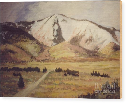Horse Head Mountain Wood Print by JoAnne Corpany