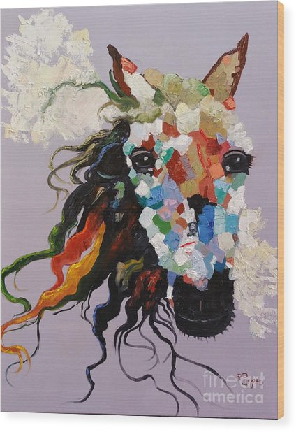 Puzzle Horse Head  Wood Print