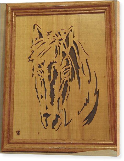 Horse Head Wood Print by Russell Ellingsworth