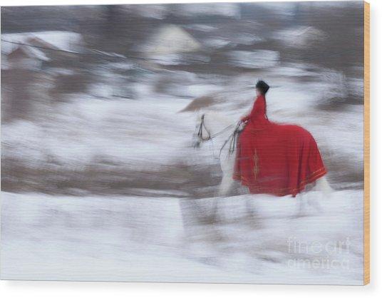 Horse Hunt #8025 Wood Print