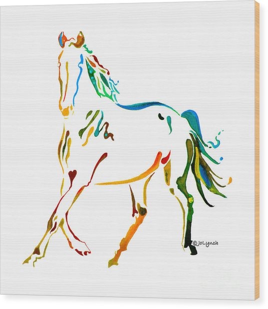 Horse Of Many Colors - 2 Wood Print