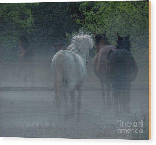 Horse 8 Wood Print