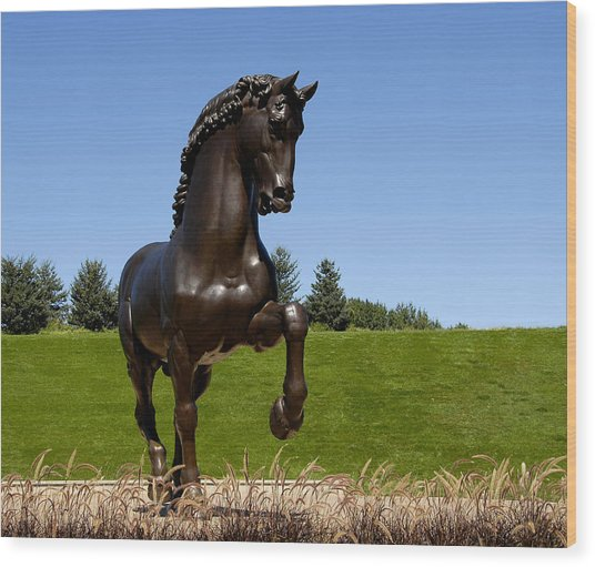 Horse Sculpture 2 Wood Print
