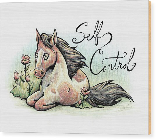 Fruit Of The Spirit Self Control Wood Print