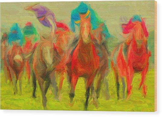 Horse Tracking Wood Print