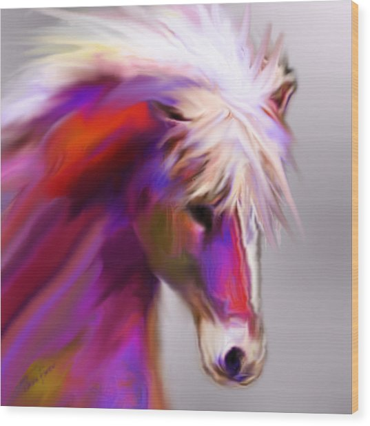 Horse True Colors Wood Print