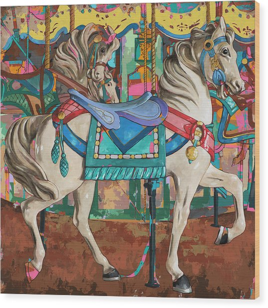Horses #9 Wood Print by David Palmer