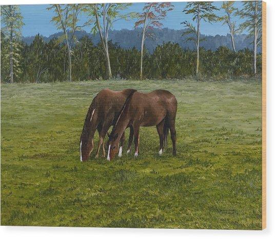 Horses Of Romance Wood Print
