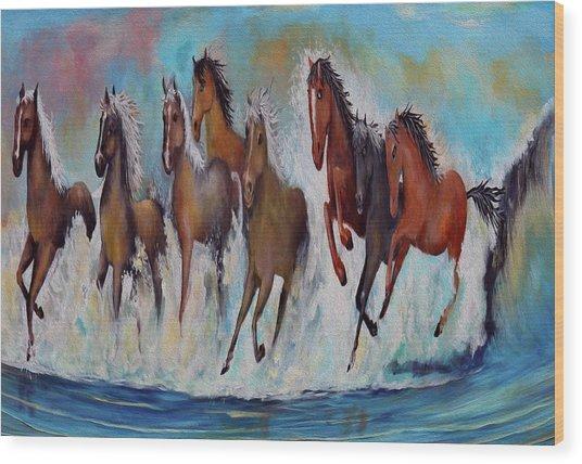 Horses Of Success Wood Print