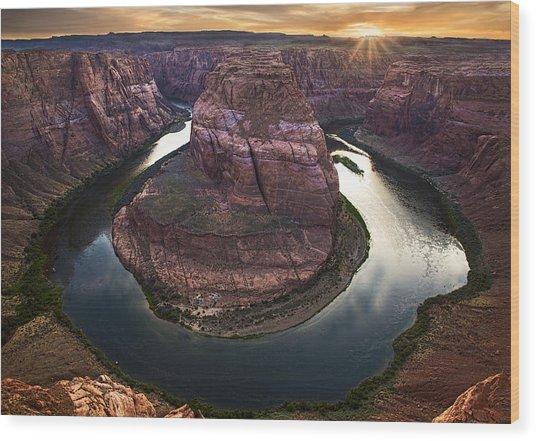 Horseshoe Bend Arizona Sunset Wood Print