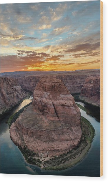 Wood Print featuring the photograph Horseshoe Bend by Chuck Jason