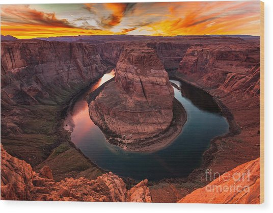 Horseshoe Bend, Colorado River, Page, Arizona  Wood Print